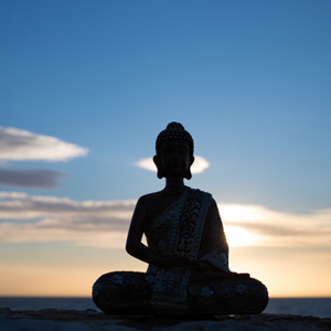 buddha-sunset start meditation